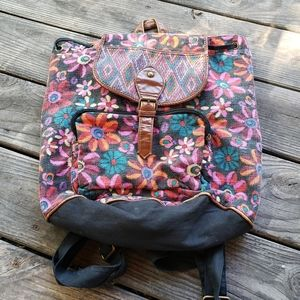 🦄 Massimo Supply Backpack floral brown trim